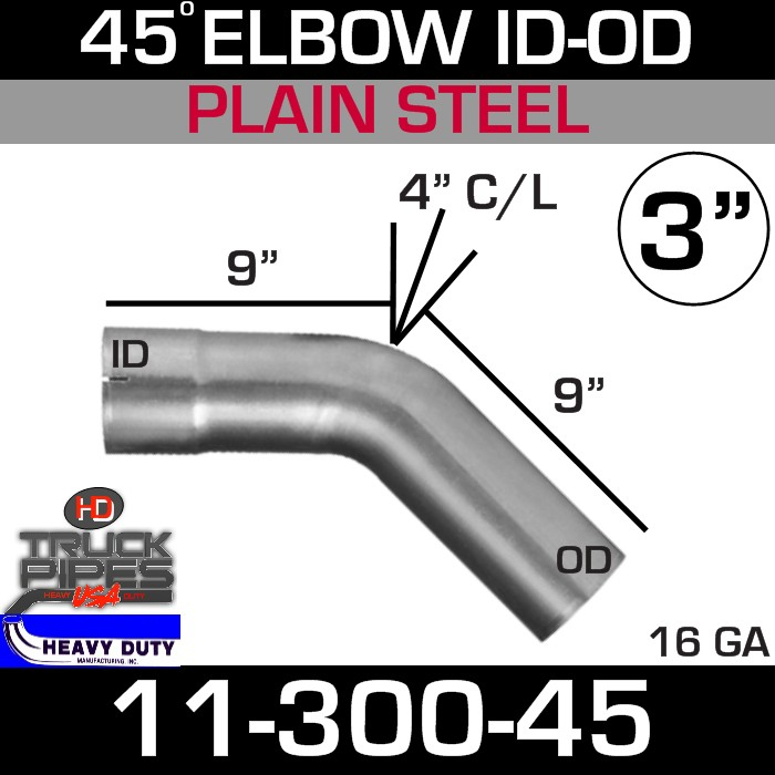 45 Degree Exhaust Elbow 3