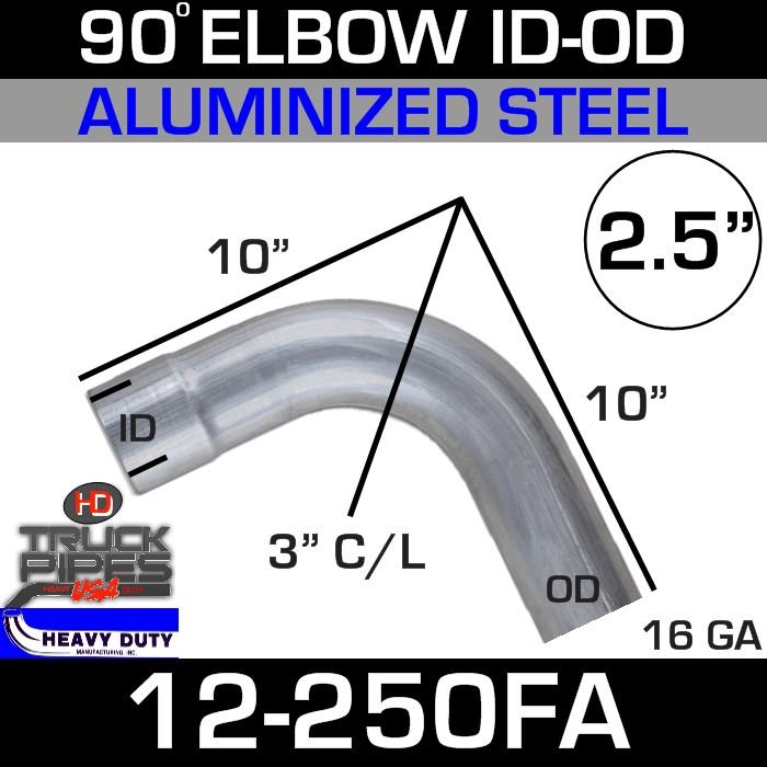 90 Degree Exhaust Elbow 2.5