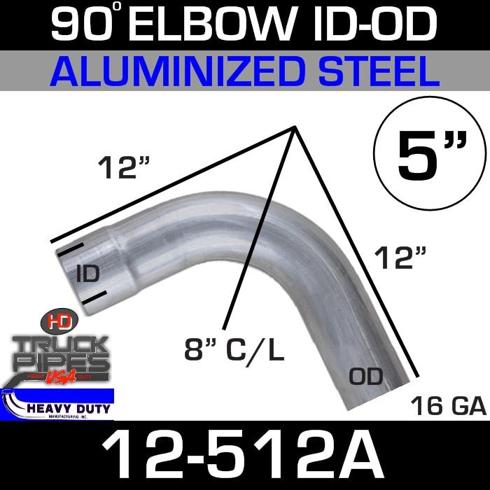 90 Degree Exhaust Elbow 5