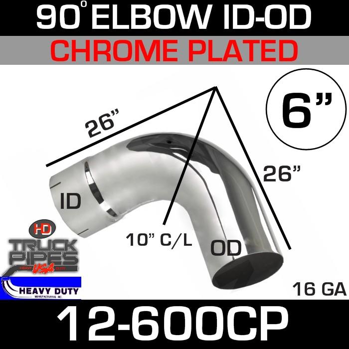 90 Degree Exhaust Elbow 6
