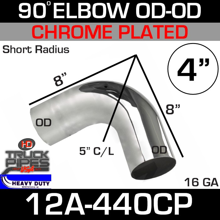 90 Degree Short Radius Exhaust Elbow 4