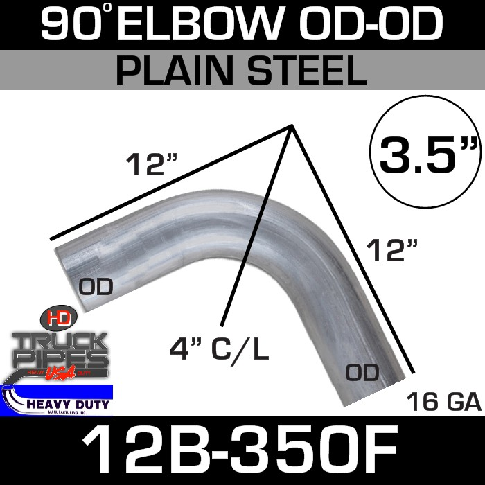 90 Degree Exhaust Elbow 3.5