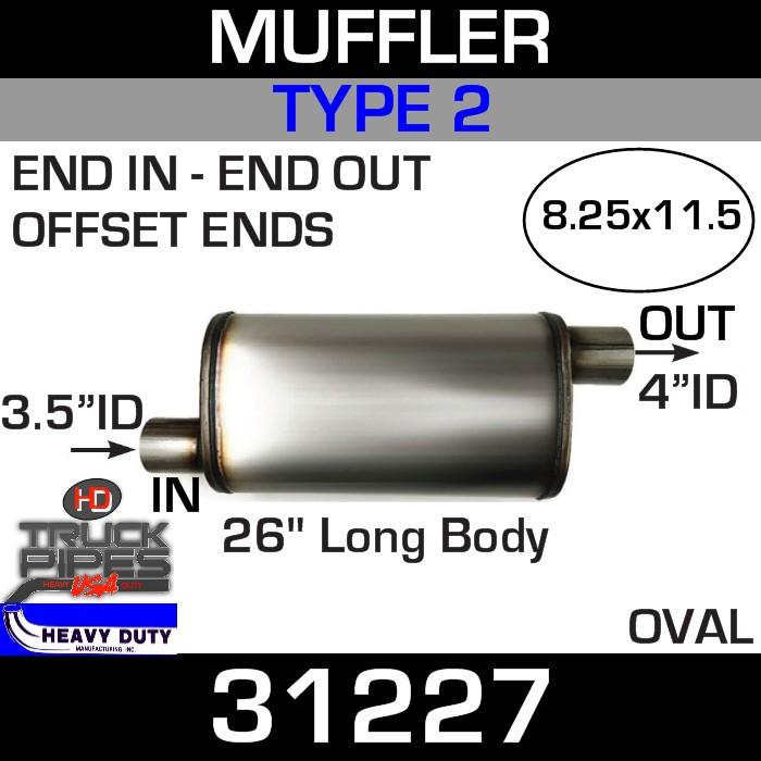 Type 2 Muffler 8.25