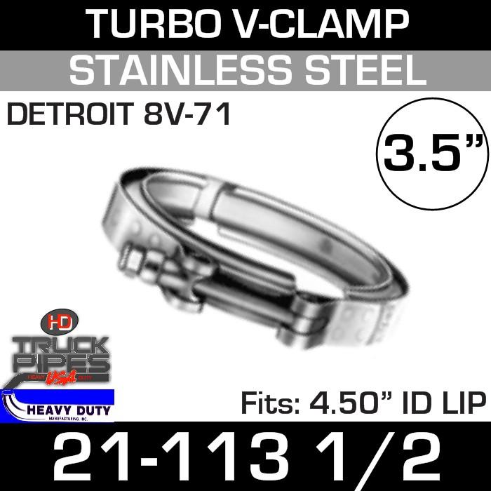 Turbo V-Clamp for DETROIT 8V-71 with 4.50