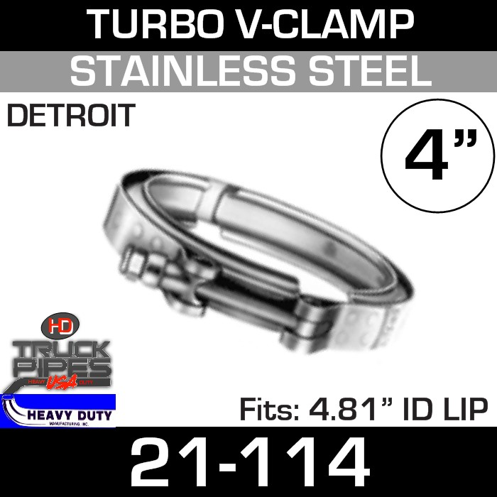 Turbo V-Clamp for Detroit 12V71-6.71 with 4.49