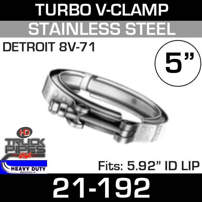 Turbo V-Clamp for DETROIT 8V-71 with 5.92