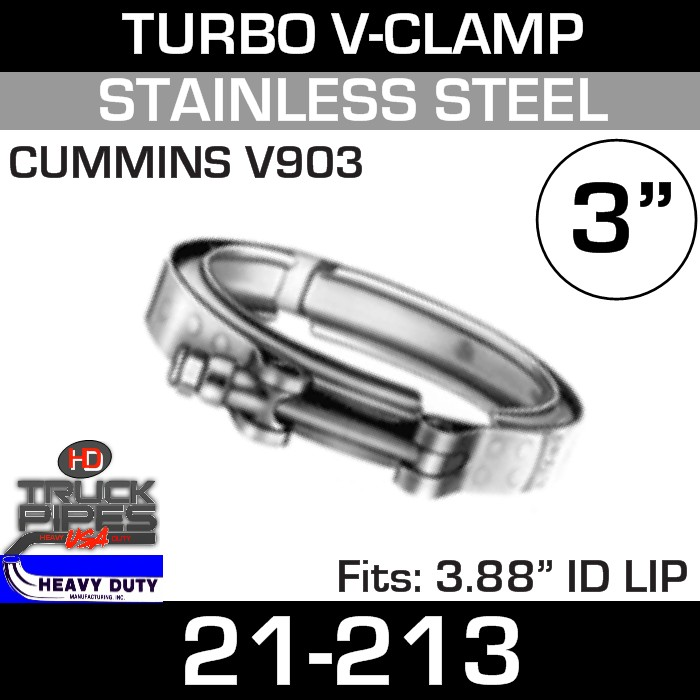 Turbo V-Clamp for CUMMINS V903 with 3.88