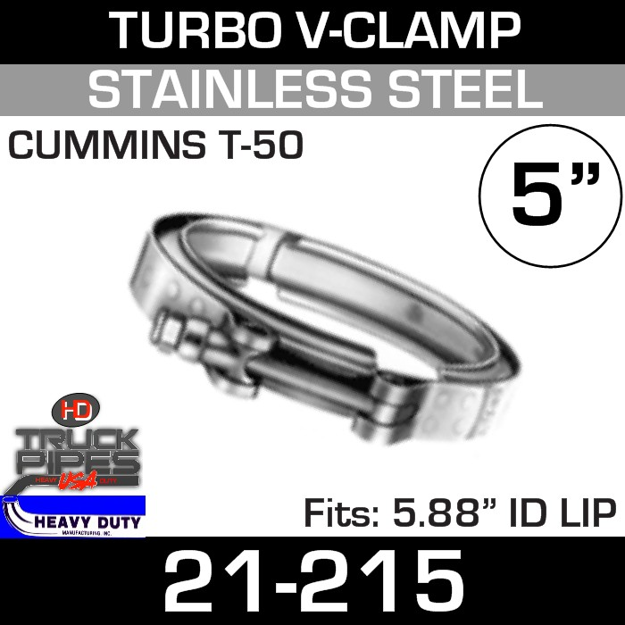 Turbo V-Clamp for CUMMINS T-50 TURBO with 5.88