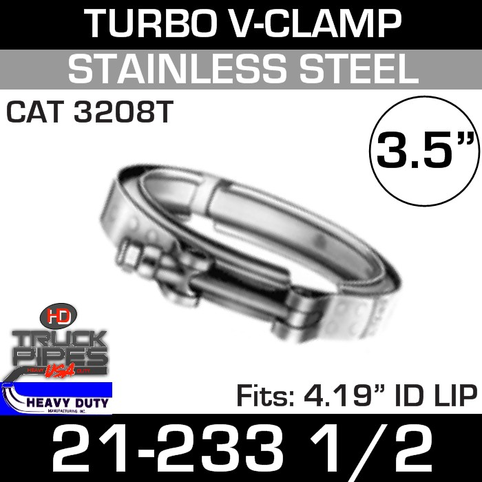 Turbo V-Clamp for CAT 3208T with 4.19