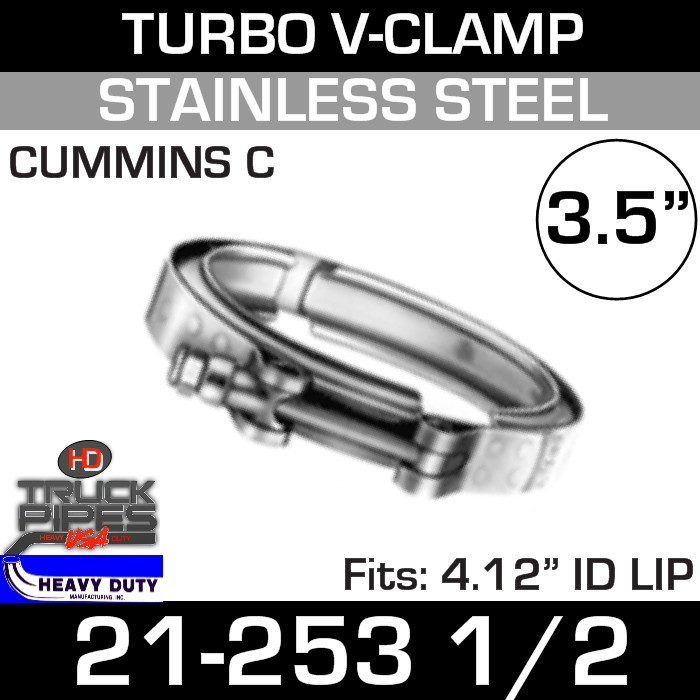 Turbo V-Clamp for CUMMINS C  with 4.12