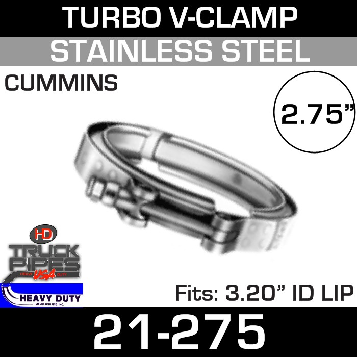Turbo V-Clamp for Cummins with 3.20
