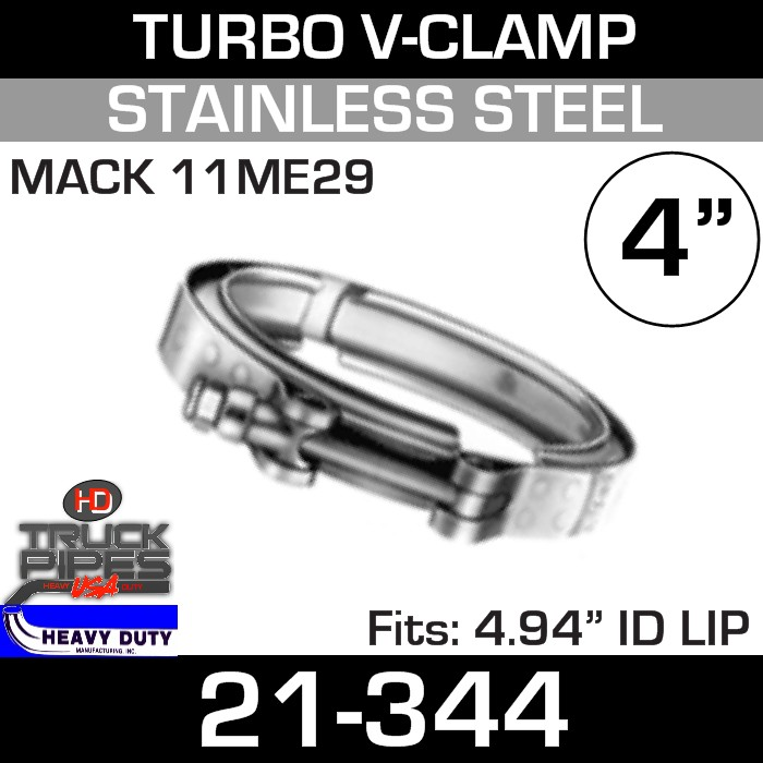 Turbo V-Clamp for Mack 11ME29 with 4.94